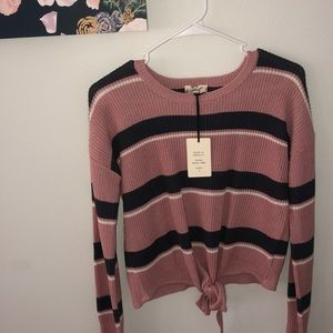 New striped sweater